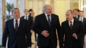 Назарбаев, Лукашенко и Путин.
