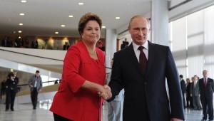 Дилма Роуссефф и Владимир Путин.