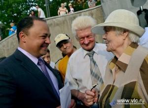 Открытие сквера Веры и надежды во Владивостоке