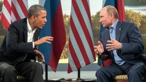 Барак Обама и Владимир Путин.