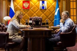Александр Хорошавин и Любовь Устиновская