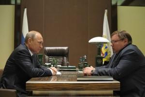 Владимир Путин и Павел Коньков
