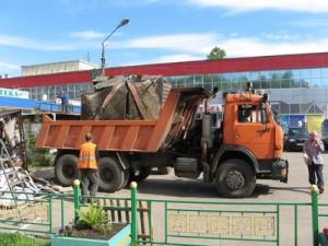 Демонтаж незаконных построек в Твери