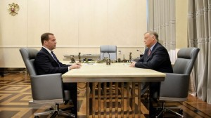 Дмитрий Медведев и Владимир Якунин