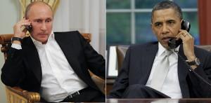 Телефонный разговор Владимира Путина и Барака Обамы.