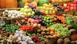 Овощи и фрукты.