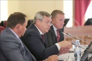 Василий Голубев на заседании правительства области