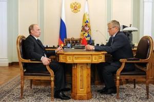 Владимир Путин и Сергей Багненко