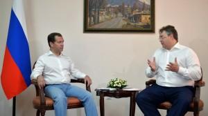 Встреча с временно исполняющим обязанности губернатора Ставропольского края Владимиром Владимировым