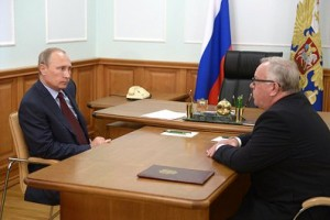 Владимир Путин и Александр Бердников
