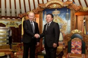 В Улан-Баторе состоялись переговоры Владимира Путина с Президентом Монголии Цахиагийн Элбэгдоржем
