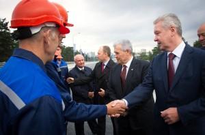Мэр Москвы открыл развязку МКАД с Волгоградским проспектом