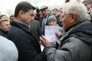Андрей Воробьев совершил незапланированный рабочий визит в городской округ Лосино-Петровский