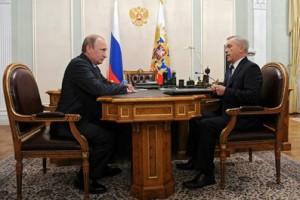 Владимир Путин и Евгений Савченко