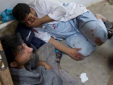 Жертвы атаки ВВС США на госпиталь в Афганистане