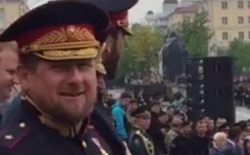 Рамзан Кадыров на параде Победы в Грозном