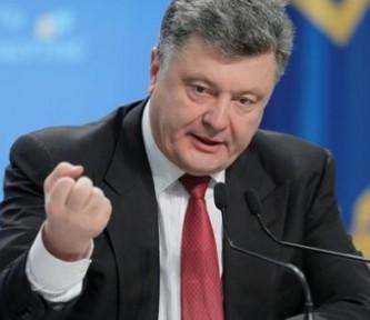Украинский диктатор Петр Порошенко.