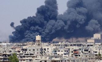 Бомбардировка сирийских территорий.