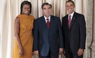 Эмомали Рахмон в гостях у семейства Обамы.
