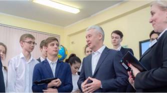 Собянин посетил школу № 627