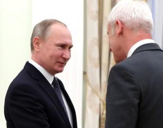 Владимир Путин и Маттиас Мюллер
