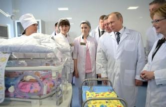 Путин посетил Брянский перинатальный центр