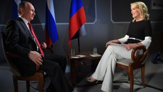 Владимир Путин и Меган Келли